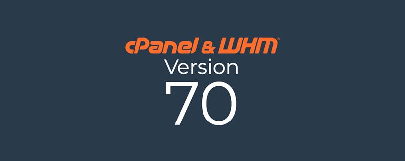 Llega cPanel & WHM versión 70