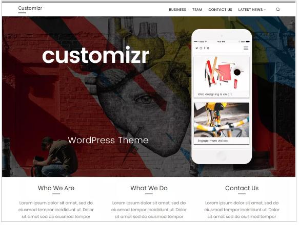 plantillas wordpress customizr