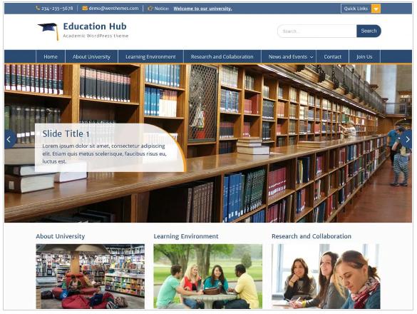 plantillas wordpress education hub