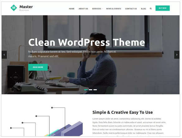 plantillas wordpress master business
