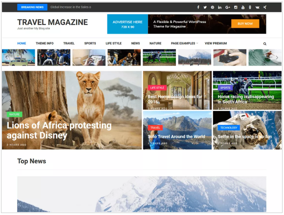 plantillas wordpress travel magazine