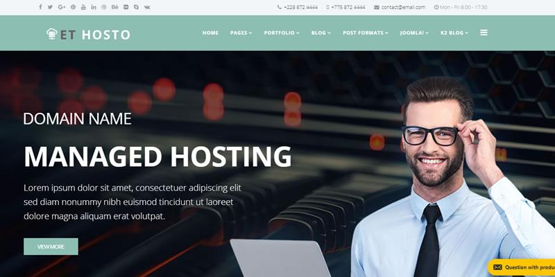 et host plantilla joomla para empresas de hosting