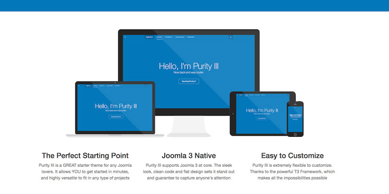 purity joomla plantilla hosting