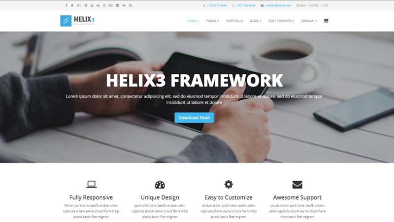 plantillas joomla helix3 hosting