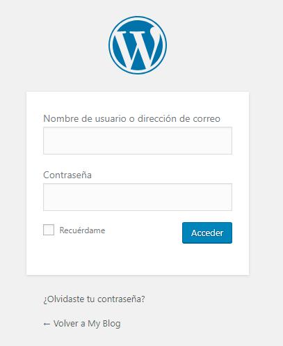 cambiar idioma wordpress login