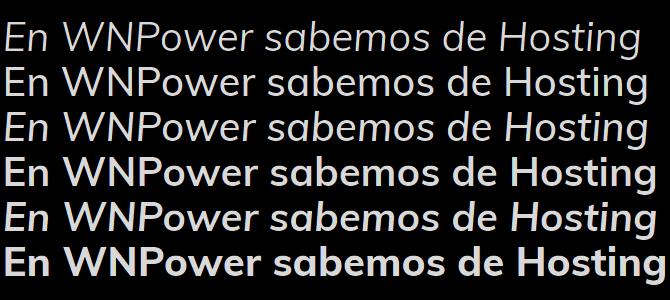 Google Fonts Muli