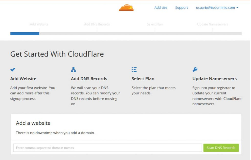 configurar cloudflare manualmente