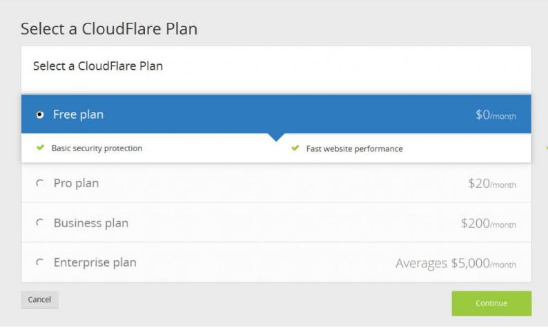 configurar cloudflare plan