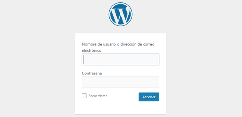 solucionar pantalla blanca de la muerte en WordPress login de wordpress