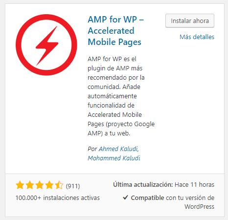 amp wordpress instalar ahora configurarlo luego