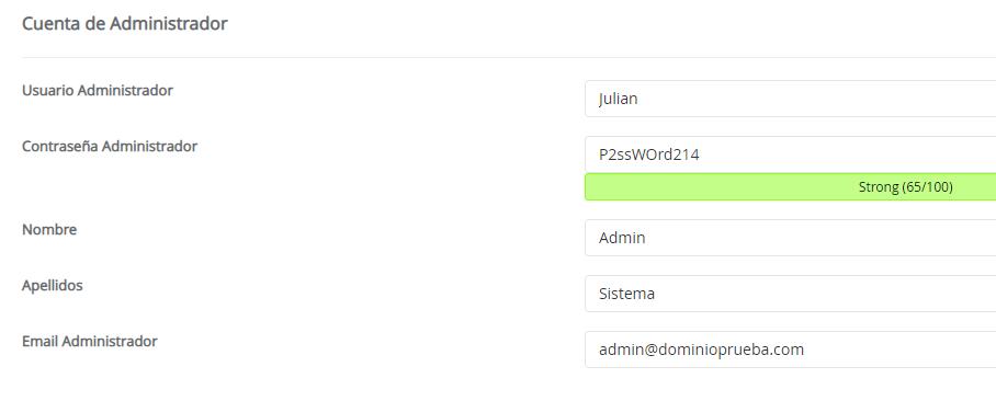 usuario admin moodle instalación instalar
