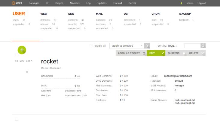 vestacp panel de control gratis para hosting servidores