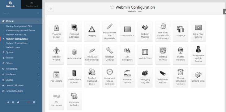 webmin panel de control gratis