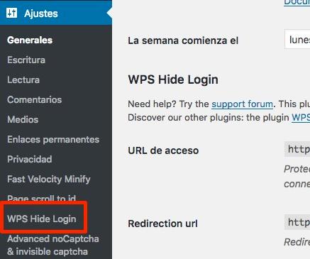 ocultar login wp admin wordpress pasos