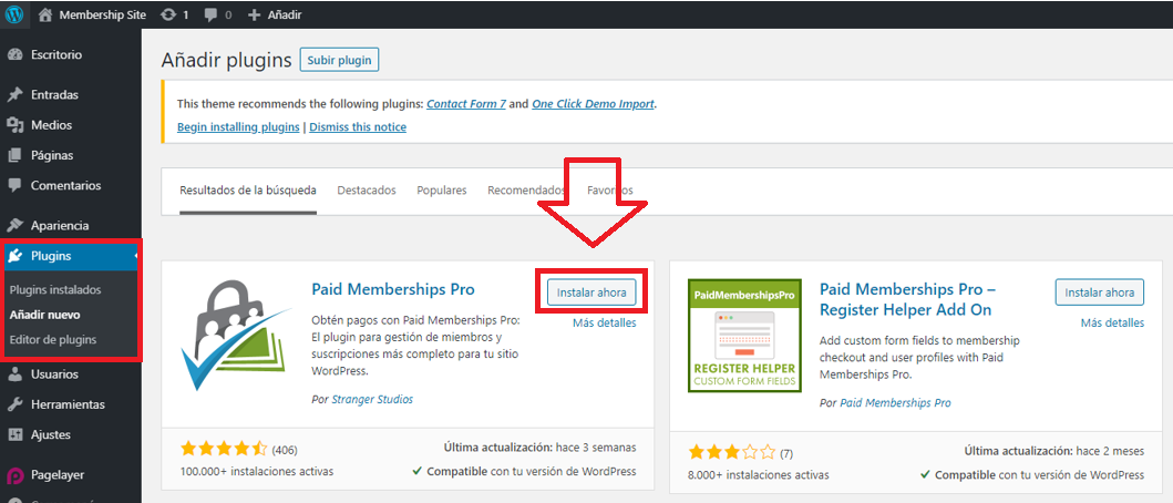 paso 1 de cómo crear un membership site en wordpress