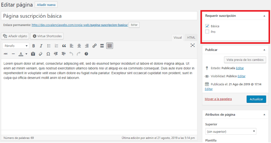 paso 19 de cómo crear un membership site en wordpress
