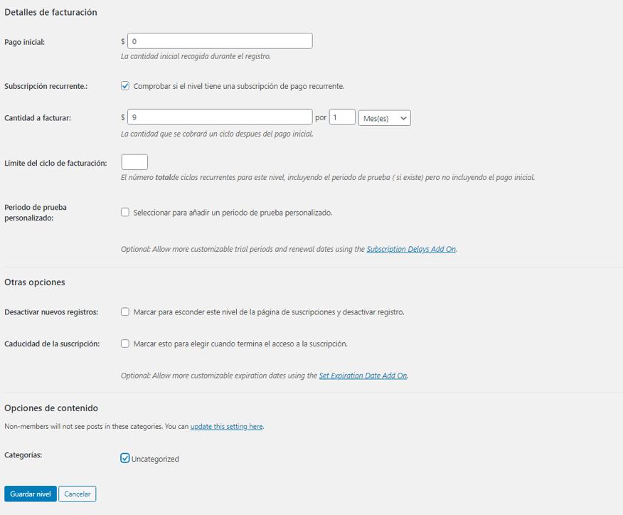 paso 5 de cómo crear un membership site en wordpress