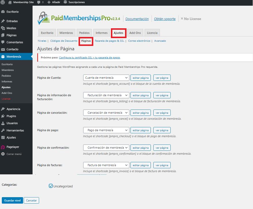 paso 7 de cómo crear un membership site en wordpress