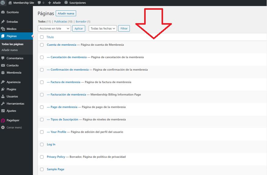 paso 8 de cómo crear un membership site en wordpress