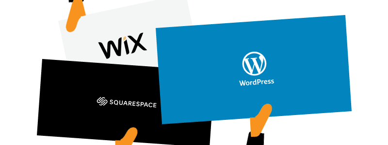 WordPress vs Wix y Squarespace, cuál elegir
