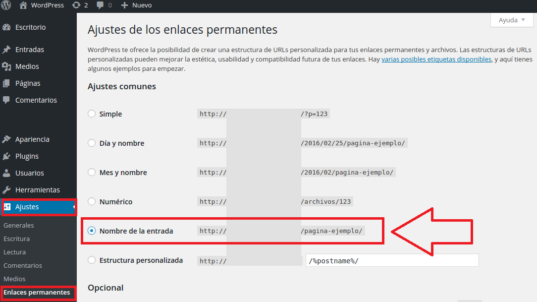 solucionar error 404 enlaces permanentes wordpress