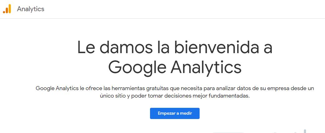 google analytics crear cuenta