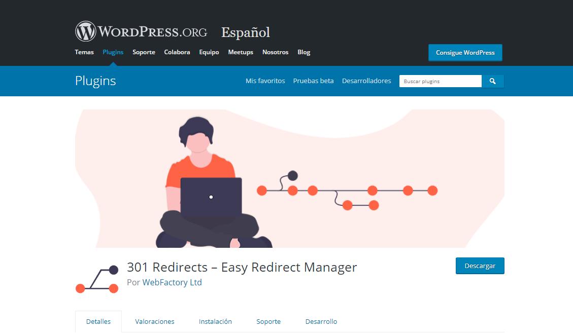wordpress plugin para redirecciones 301