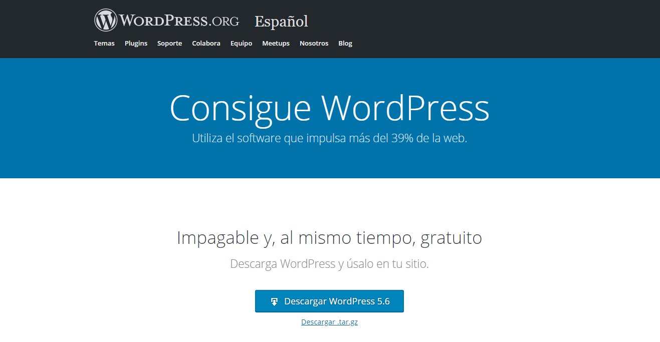 wordpress 5.6 cambios version