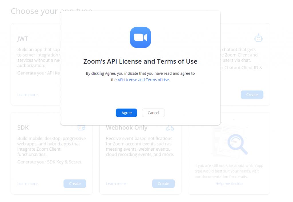 integrar instalar zoom wordpress agree