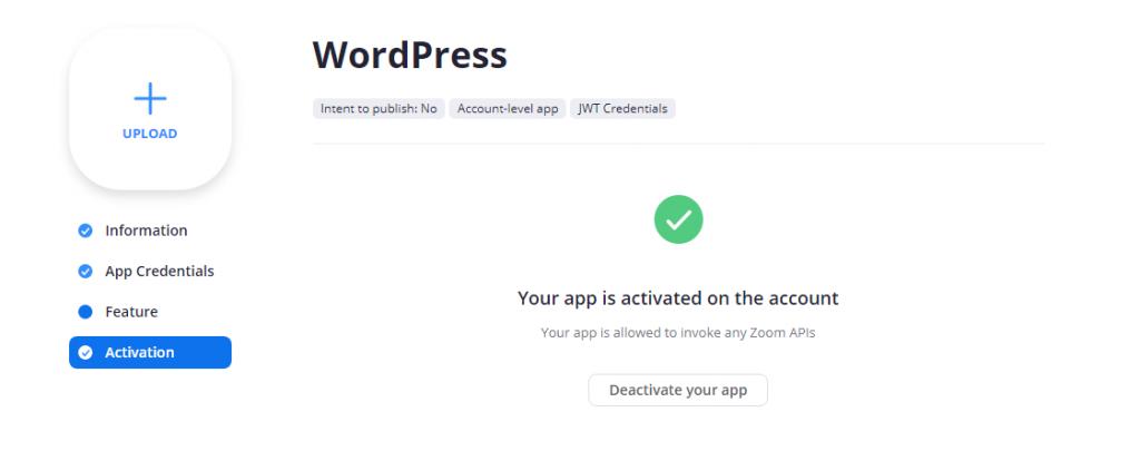 integrar instalar zoom wordpress continuar