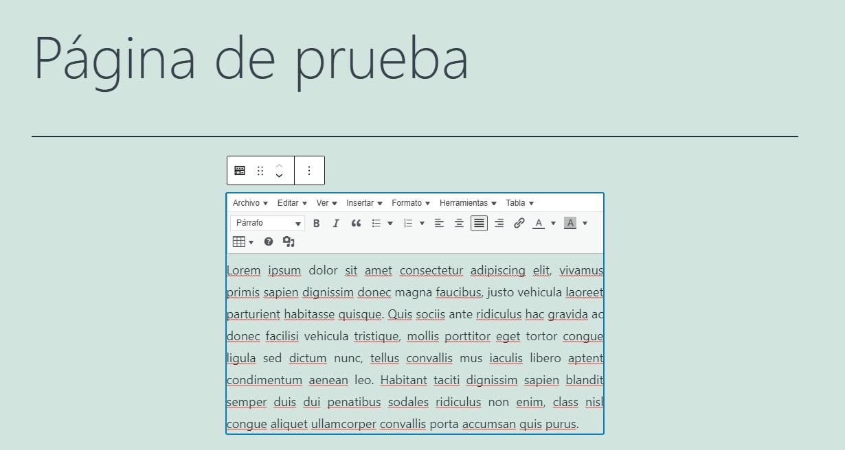 html justificar parrafo texto wordpress