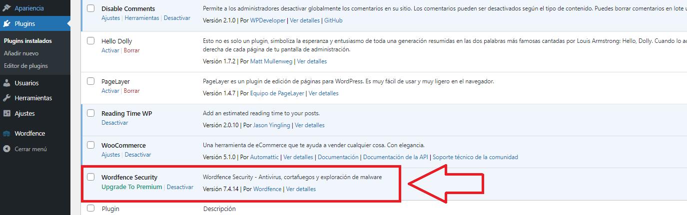 instalar wordfence en tu wordpress desde wp-admin con plugin