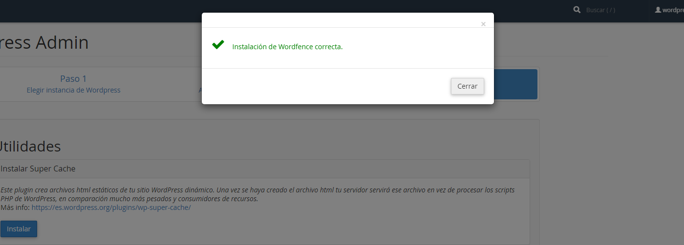 hosting wordpress admin wnpower wordfence