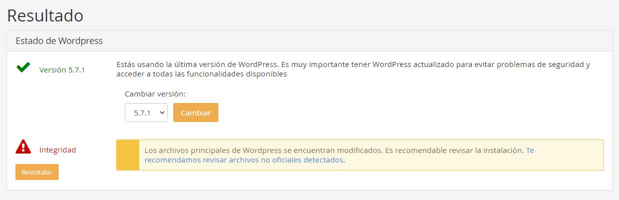 wordpress doctor reinstalar