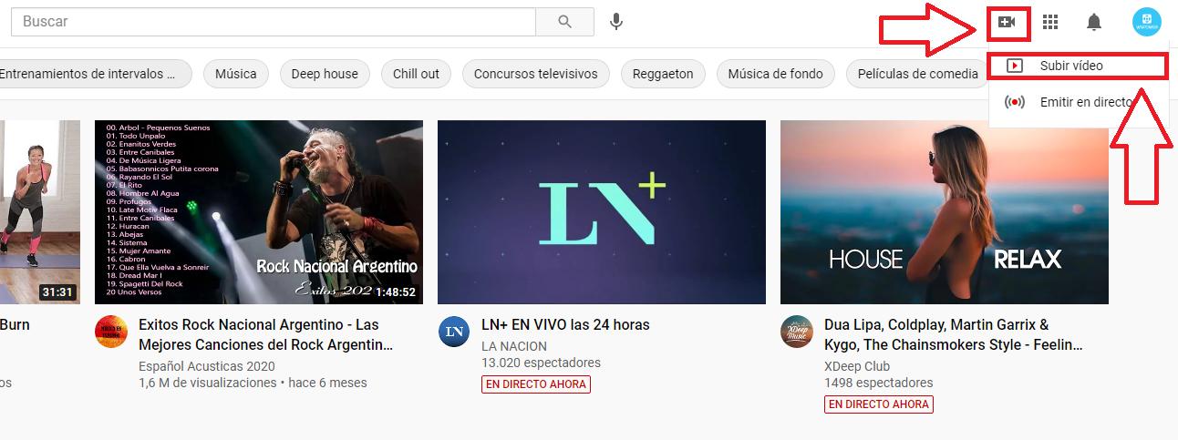 subir video youtube