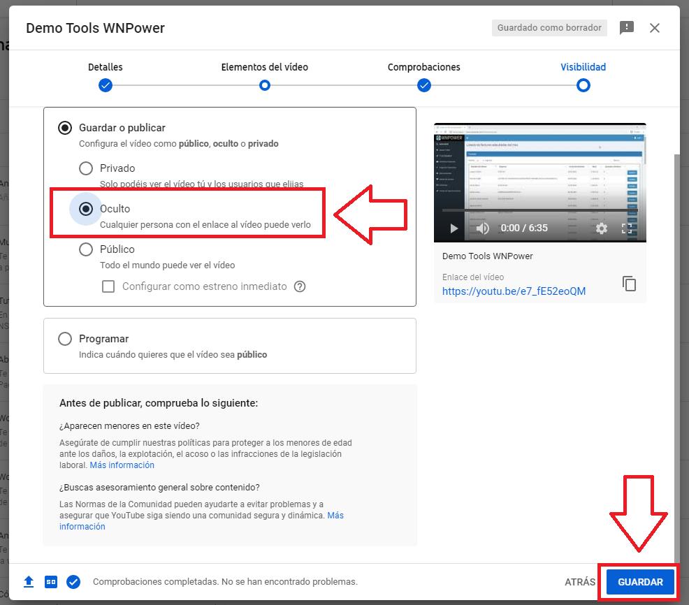 subir video youtube hosting archivo