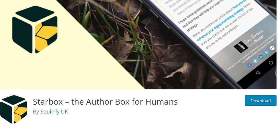 starbox plugin bio wordpress